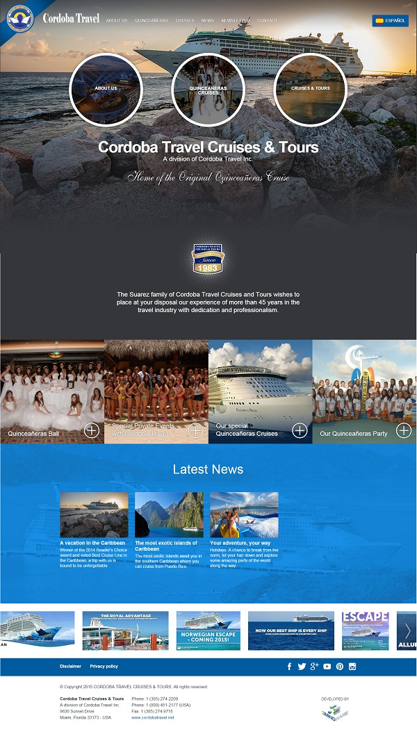 Website Cordoba Travel Agency