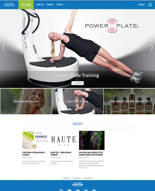 Sitio web de Body Contour -Elewa