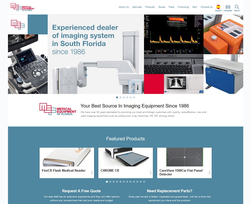 A new website for  Medical Equipment of Florida