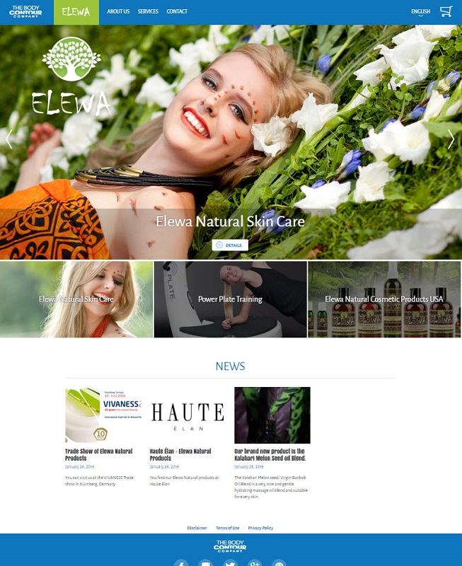 Website The Body Contour Company -Elewa