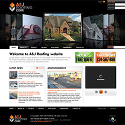 A&J Roofing Corp. Website